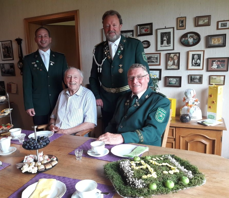 BSV Bruckhausen gratuliert: Wilhelm Temberg feiert 95. Geburtstag
